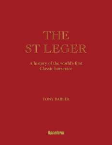 St Leger Book_front cover